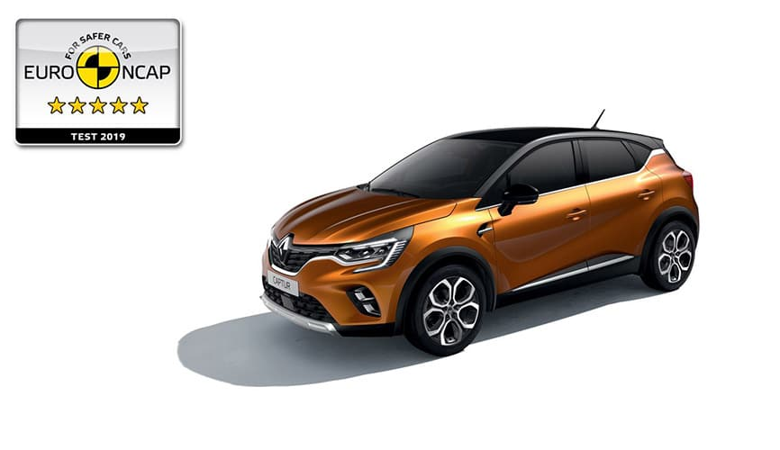 Novo Renault Captur: 5 Estrelas Euro NCAP
